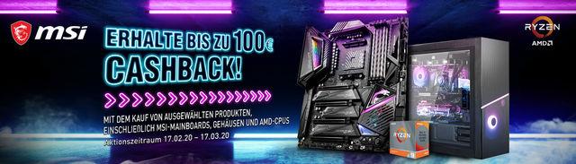 Cashback-Aktion von MSI und AMD